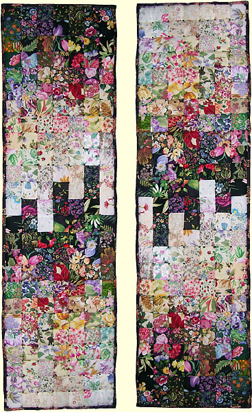 Art Quilt Tapestry - Textile - Uptown Downtown by Pam Geisel