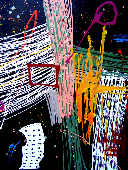 Abstract Painting - Uptown Downtown by Pearlie Taylor