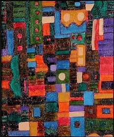 Abstract Painting - Urban Rhapsody by Mary Silver