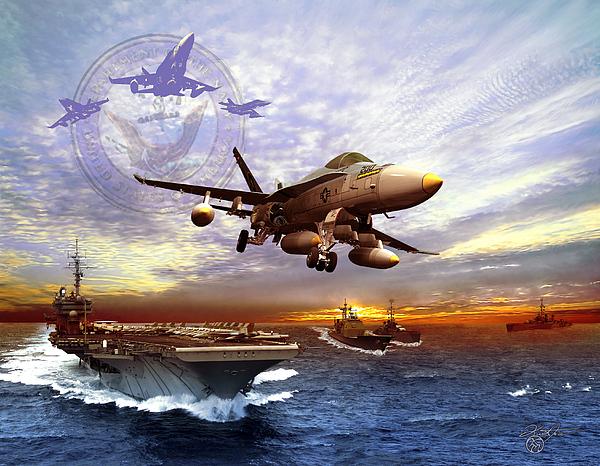U S Navy Digital Art By Kurt Miller