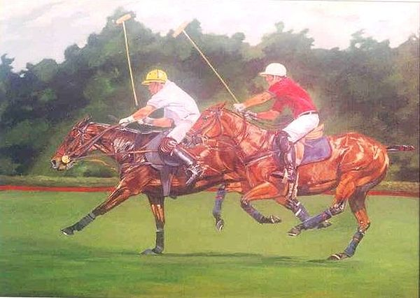 Polo Paintings Painting - us Open by Sabrina Siga