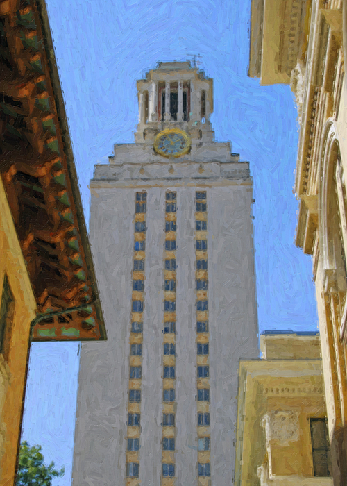 Dallas Painting - Ut University Of Texas Tower Austin Texas by Jeff Steed