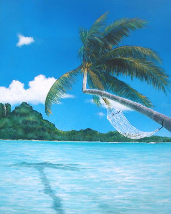 Tahiti Island Painting - Vacation by Peter  Jang