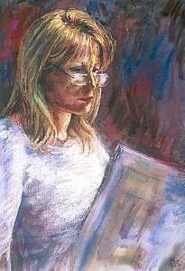 Portrait Painting - Val by Tina Siddiqui