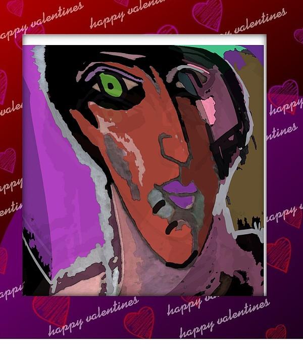 Post Card Mixed Media - Valentine by Noredin morgan