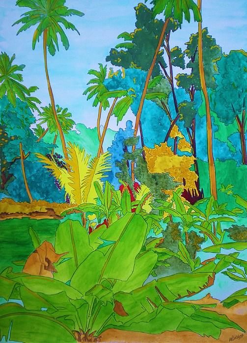 Watercolour Painting - Vallee De Mai by Michaela Bautz