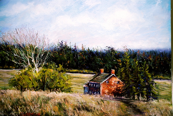 Landscape Pastel - Valley Forge Spring by Joyce A Guariglia