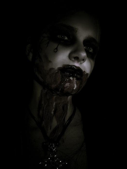 Vampire Photograph - Vampire Feed 2 by Kelly Jade King