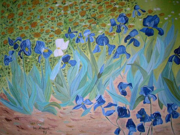 Impressionism Painting - Van Gogh Iris By Alanna by Alanna Hug-McAnnally