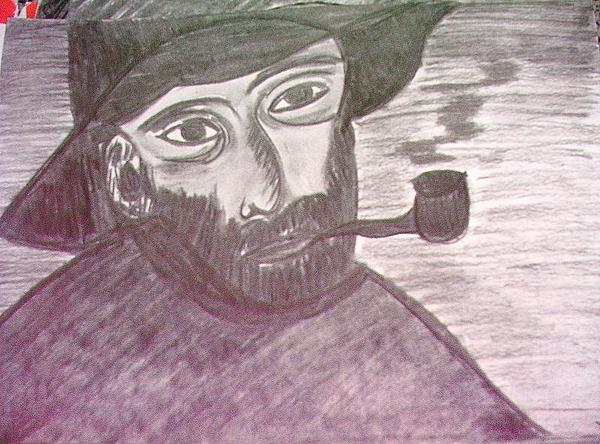 Van Gogh Drawing by Viviane Vieira