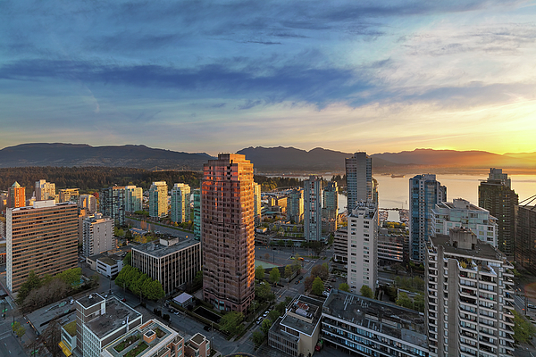 Vancouver Photograph - Vancouver Bc Cityscape At Sunset by David Gn