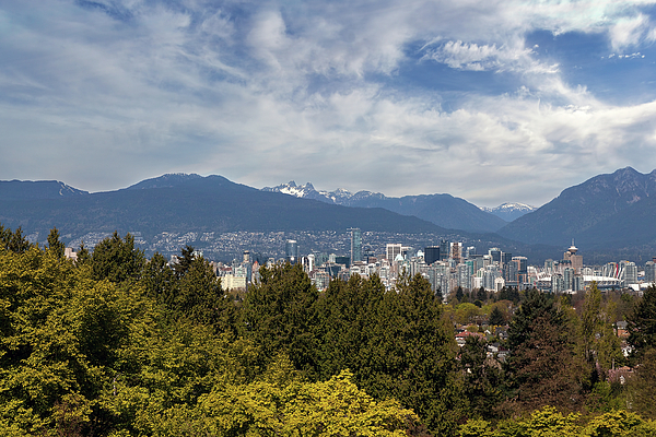 Vancouver Photograph - Vancouver Bc Skyline Daytime View by David Gn