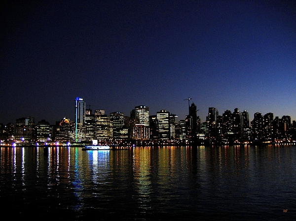 Night Scape Photograph - Vancouver Night Lights by Will Borden