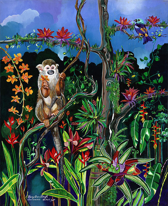Wildlife Painting - Vanishing Beauty by Mary Ann Gough