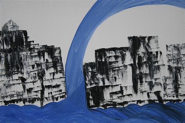 River Painting - Vanishing River  by Prakash Bal Joshi