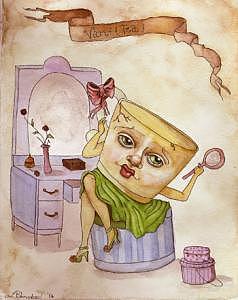 Blondeau Painting - Vanitea  Odditea by Linsay Blondeau