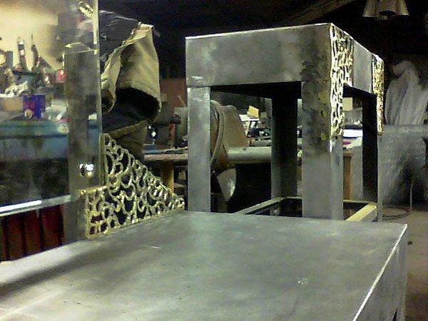 Steel Sculpture - Vanity Set- Close Up by Don Thibodeaux