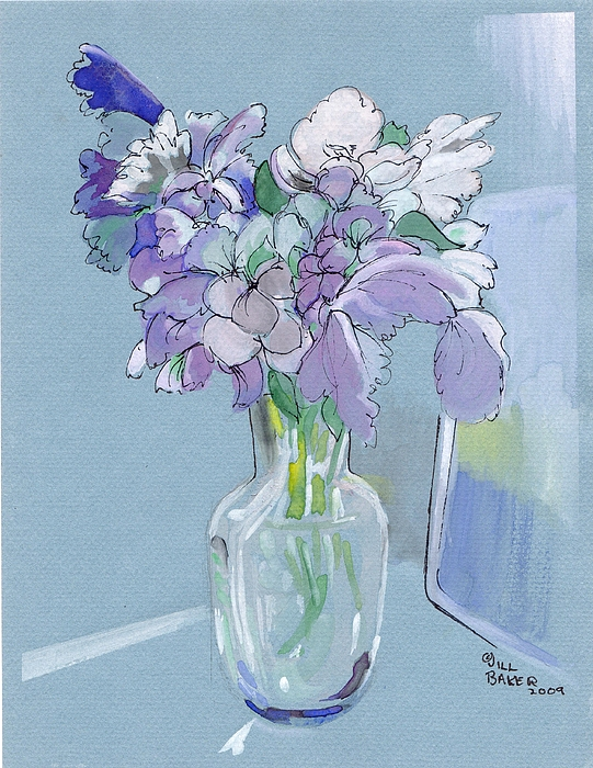 Flowers Painting - Vase Of Flowers In The Sun by Jill Baker