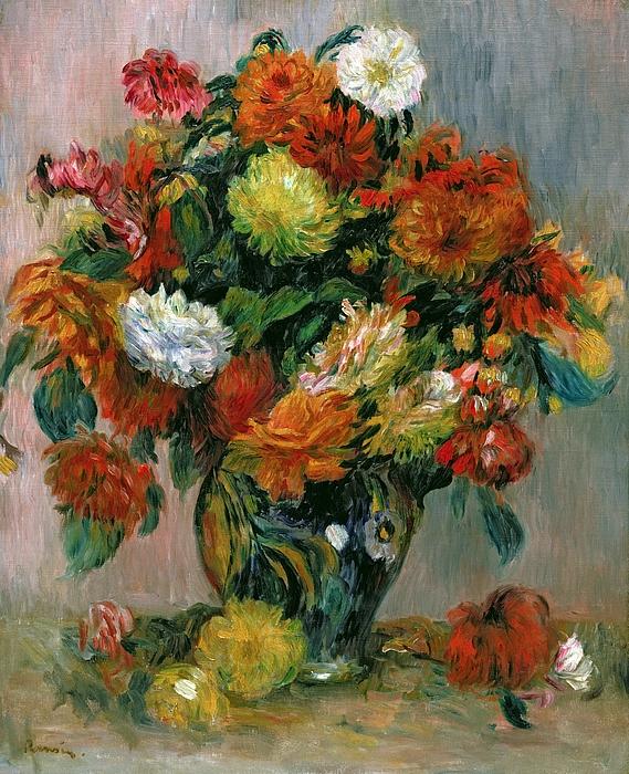 Vase Painting - Vase Of Flowers by Pierre Auguste Renoir