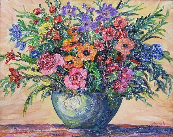 Vase Painting - Vase Of Flowers by Richard Nowak