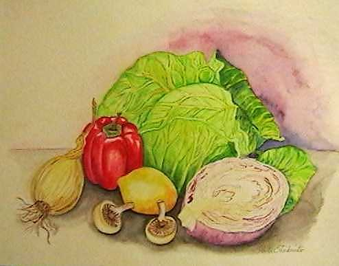 Vegetables Painting - Vegetable Medley by Anita Banks Ambrister