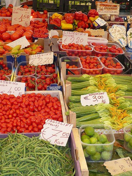 European Markets Photograph - Vegetables At Italian Market by Carol Groenen