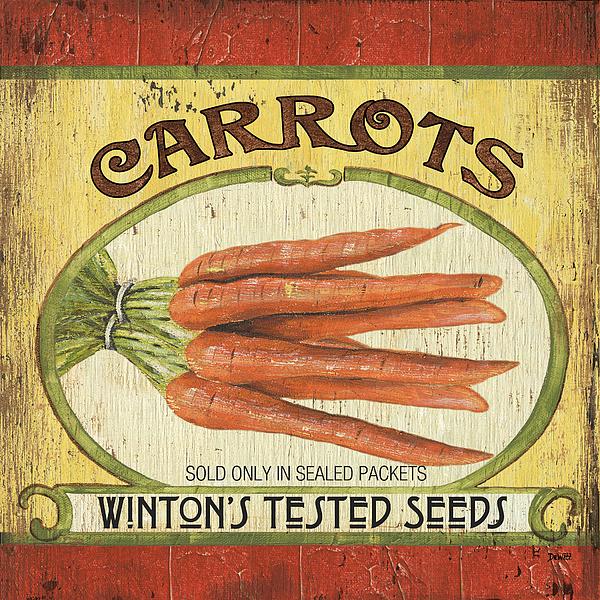 Food Painting - Veggie Seed Pack 4 by Debbie DeWitt