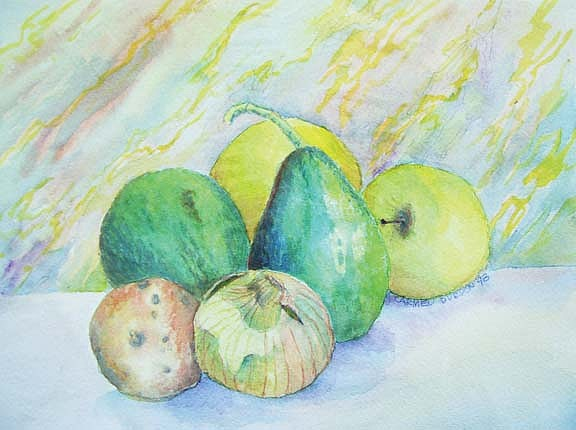 Vegetables Painting - Veggies by Carmen Durden