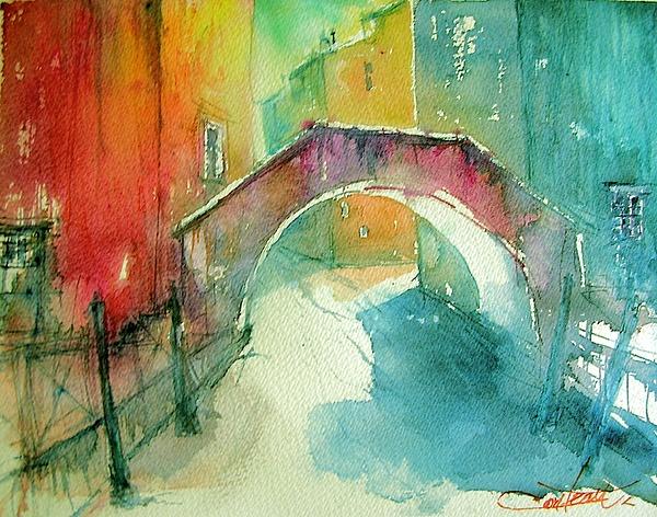 Watercolour Painting - Venezia by Christian Couteau