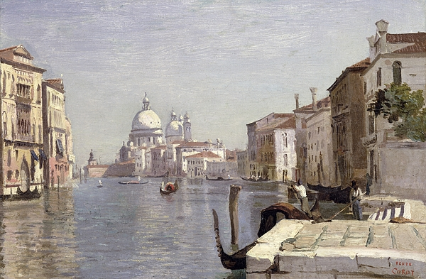 Venice Painting - Venice - View Of Campo Della Carita Looking Towards The Dome Of The Salute by Jean Baptiste Camille Corot