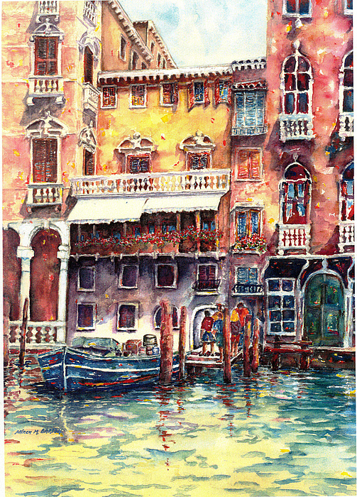 Venice 1 Painting by Arleen Barton