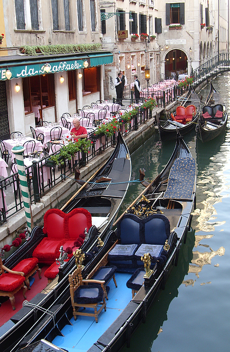 Venice Photograph - Venice Boats by Nina Simeonova