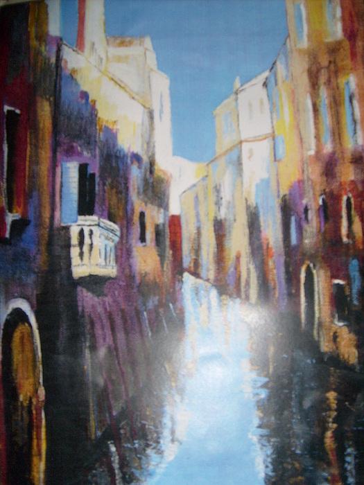 City Painting - Venice Canal by Deirdre McNamara
