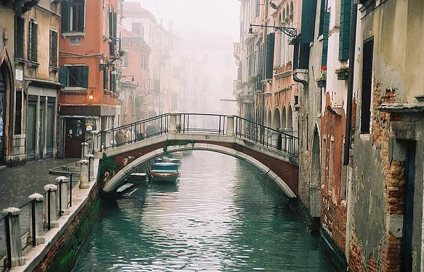 Venice Photograph - Venice Canal II by Kathy Schumann