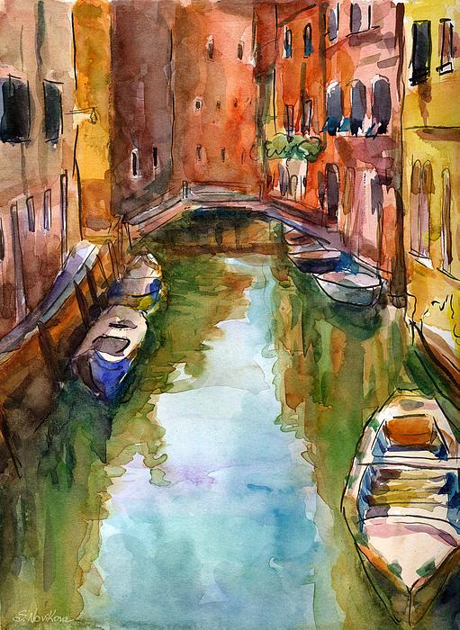Venice canal painting painting by svetlana novikova for Where to buy fine art