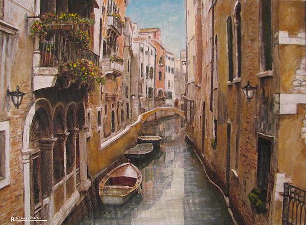 Capri Painting - Venice-canale Veneziano by Italian Art