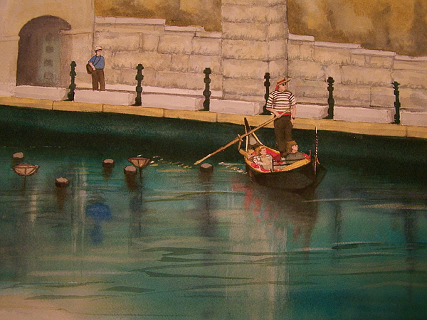 Providence Painting - Venice Via Providence by Lynn Babineau