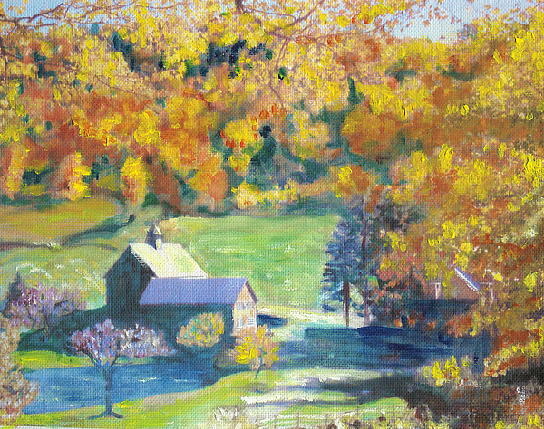 Farm Painting - Vermont Farm by Lyn Vic
