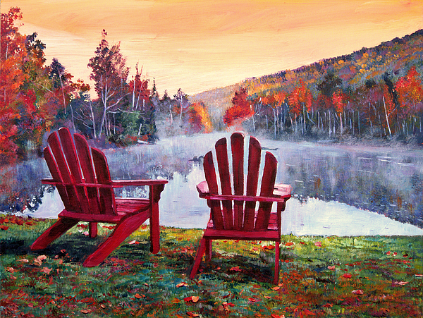 Landscape Painting - Vermont Romance by David Lloyd Glover