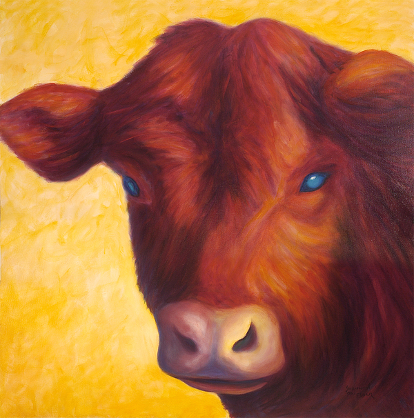 Bull Painting - Vern by Shannon Grissom