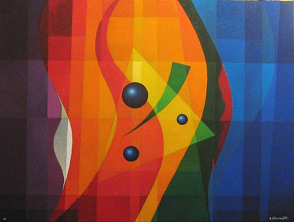 Abstract Painting - Vernal Composition by Alberto DAssumpcao