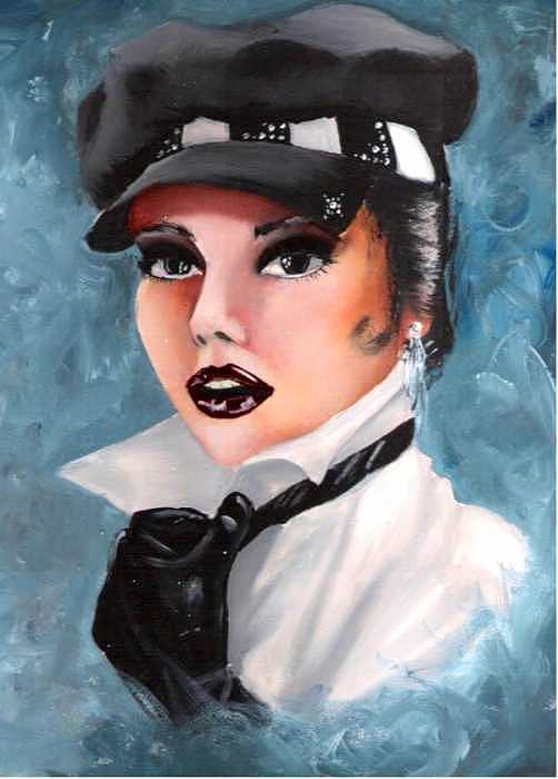 Portrait Painting - Veronica by Scarlett Royal