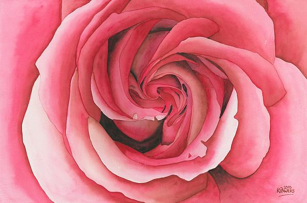 Vertigo Painting - Vertigo Rose by Ken Powers