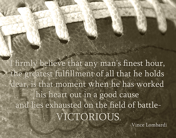 Football Photograph - Victorious by Robin Hall