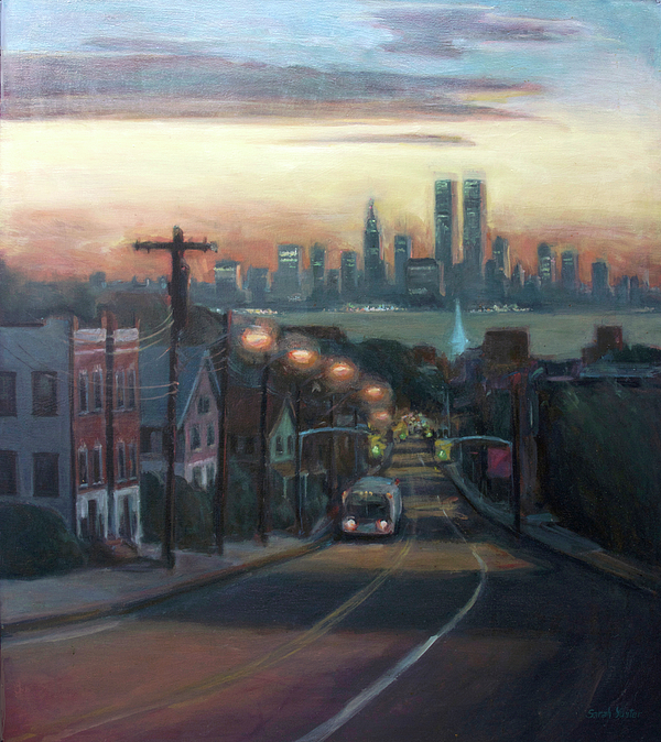 Manhattan Skyline Painting - Victory Boulevard At Dawn by Sarah Yuster