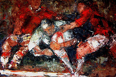 Victory Rugby Art Print by Rugby Art X large print