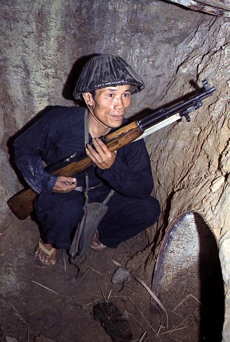 Bunker Photograph - Vietnam War, A Viet Cong, Soldier by Everett