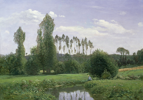 View At Rouelles Painting - View At Rouelles by Claude Monet