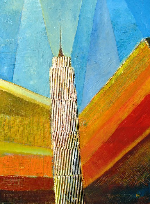 Abstract Cityscape Painting - View From 34th St by Habib Ayat