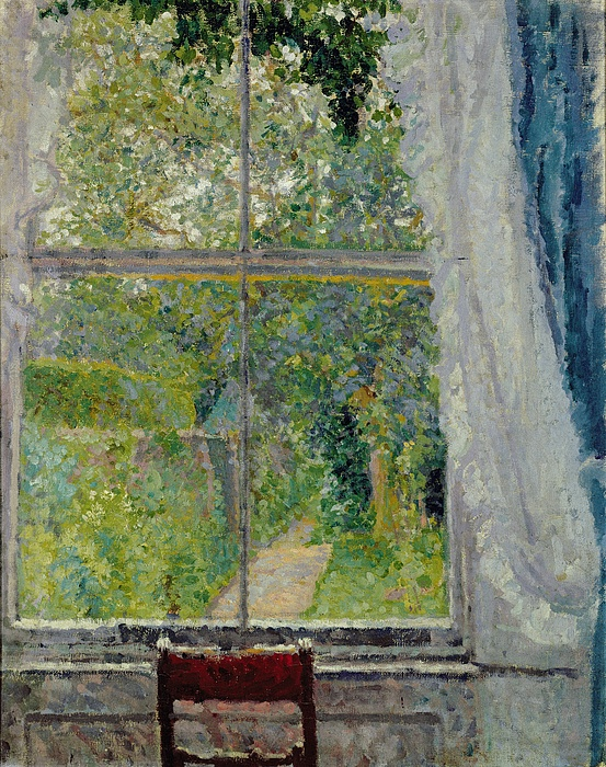 View From A Window Painting By Spencer Frederick Gore